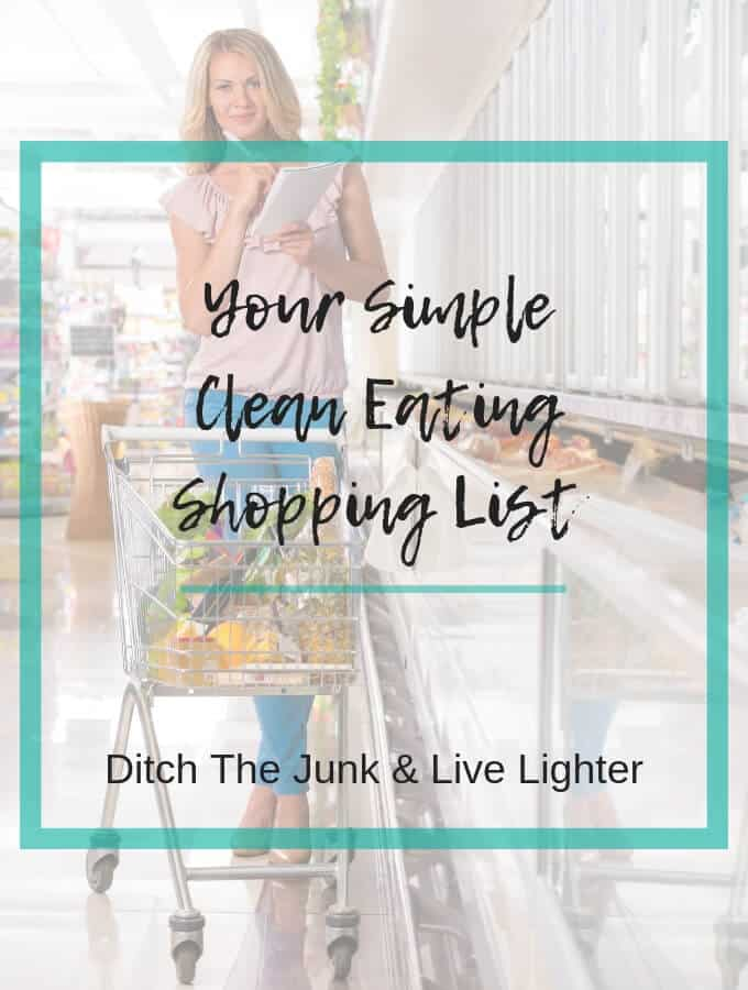 clean eating shopping list printable pdf