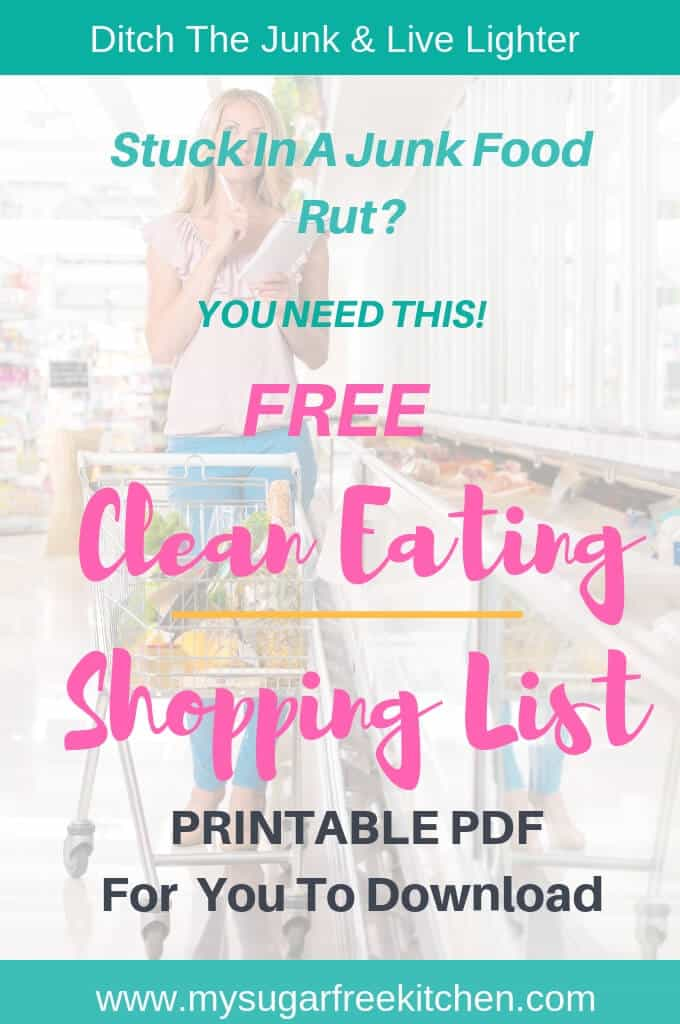 clean eating shopping list free printable