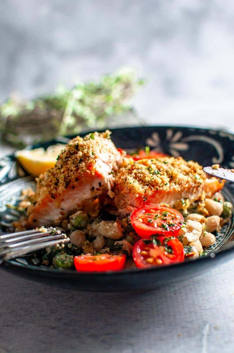 walnut crumbed salmon