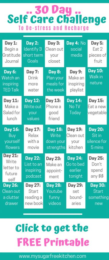 30 day self care challenge pinterest
