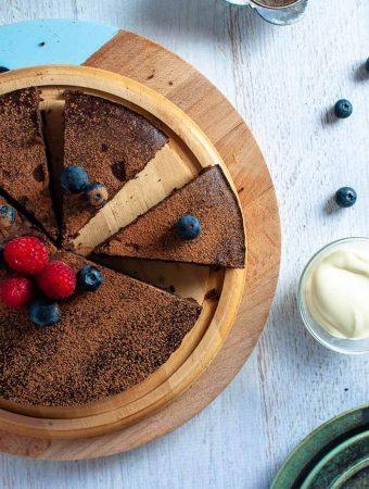 Black Bean Chocolate Cake on a plate