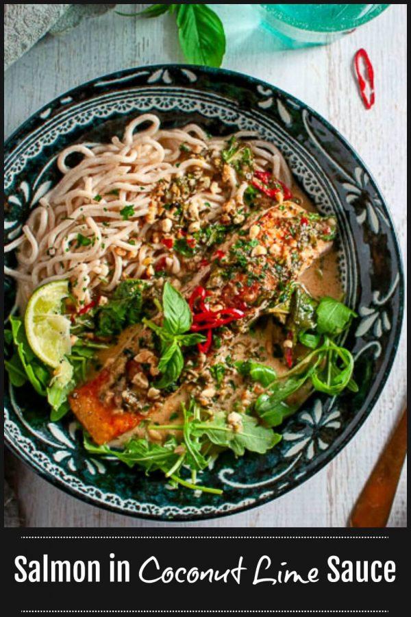 Salmon in Coconut Milk Lime Sauce - Pinterest1