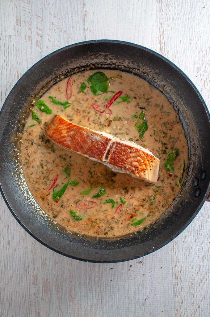 Salmon in Coconut Milk Lime Sauce