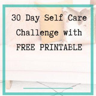 Self Care Challenge with printable