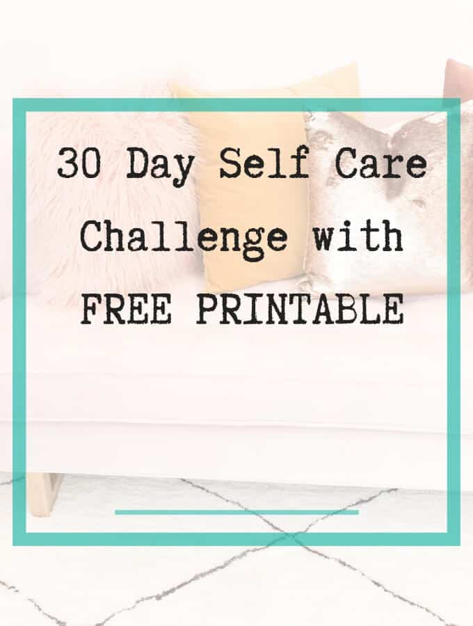 Self Care Challenge with printable