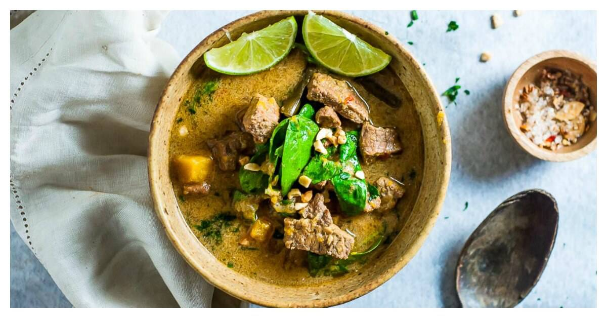 Slow Cooker Thai Green Beef Curry My Sugar Free Kitchen
