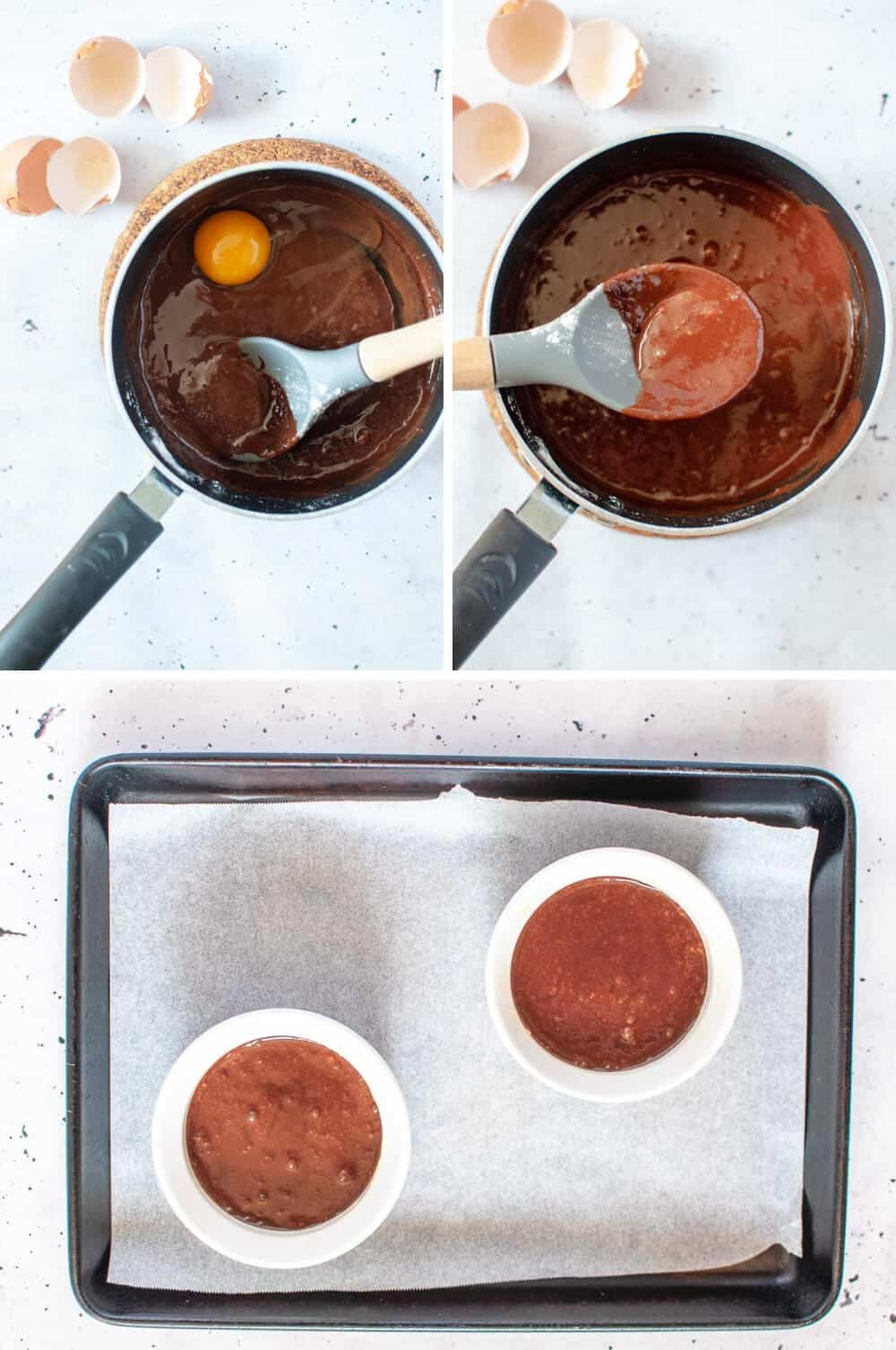 Chocolate self saucing pudding-prep