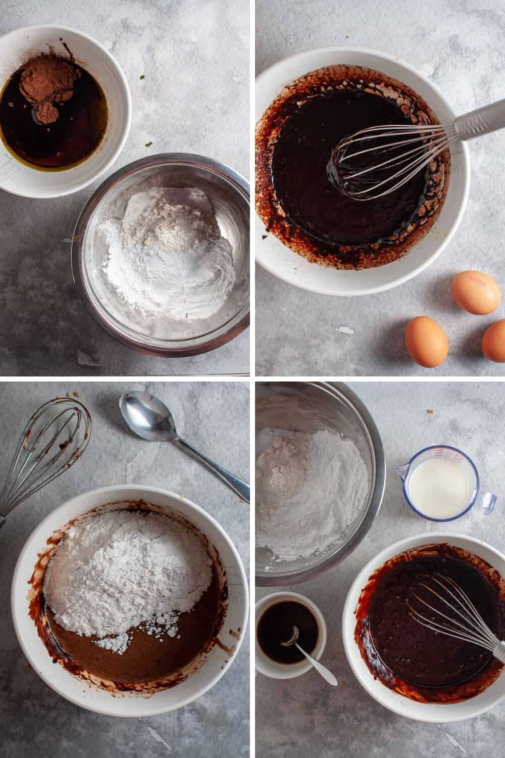 Chocolate Avocado Cake preparation collage