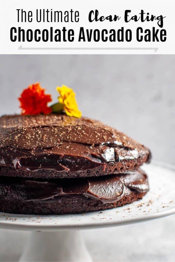 Chocolate Avocado Cake Pin 1