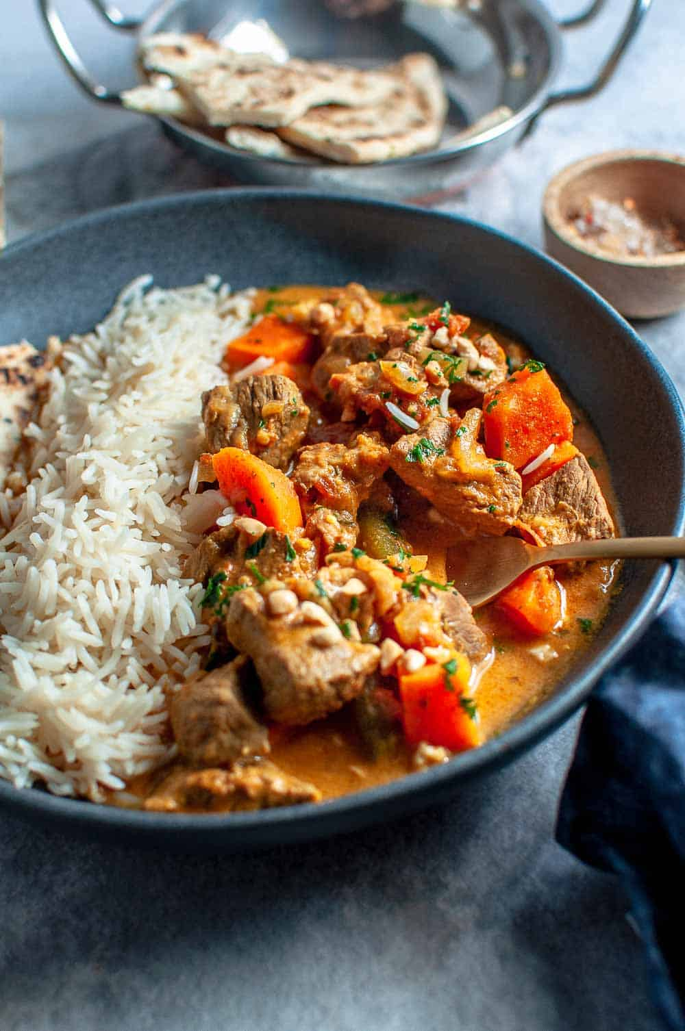 Slow Cooker Beef Korma Curry Bowl