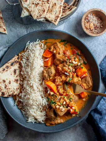 Beef Korma Curry Bowl