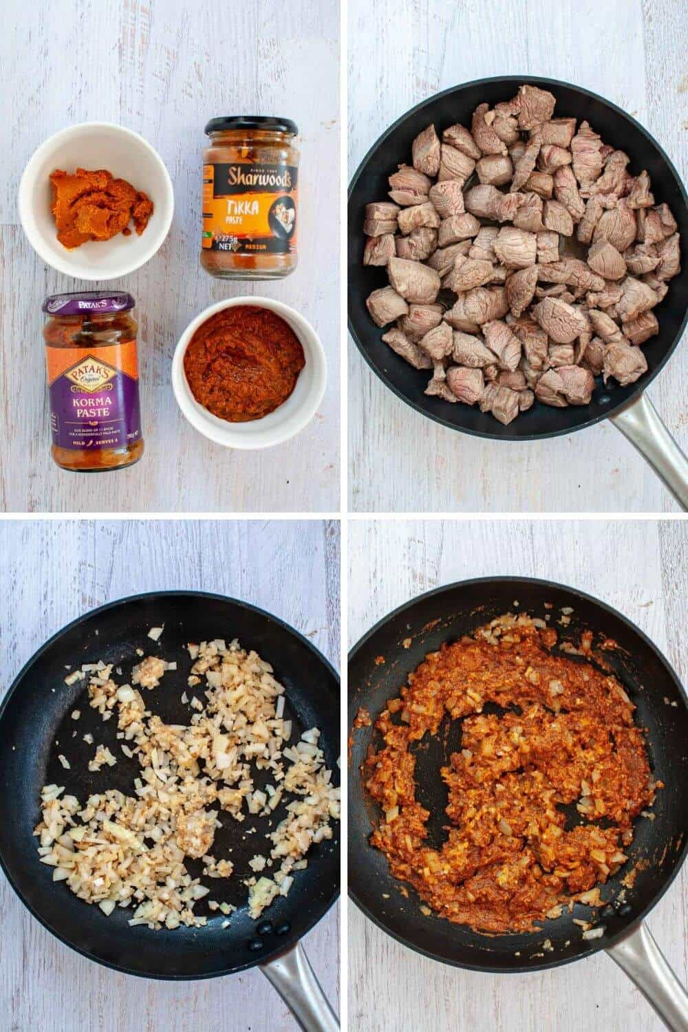 Beef Korma ingredients and preparation-1