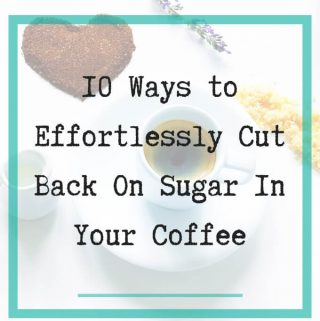 cut back sugar in coffee - 1