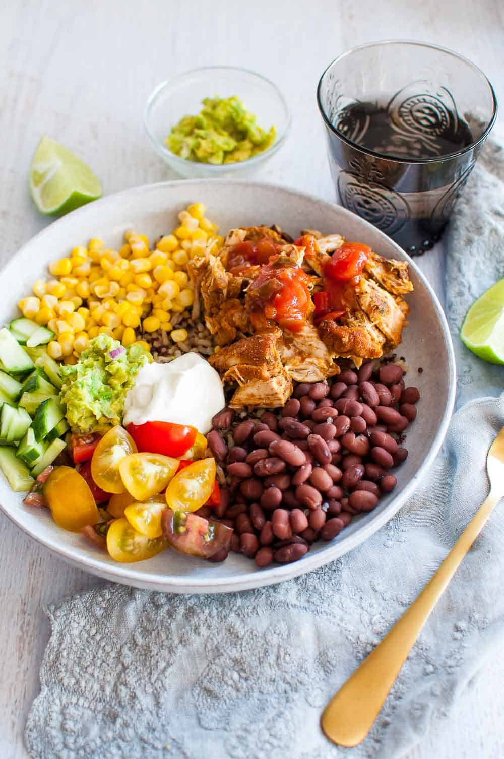 Pulled Chicken Burrito Bowl-8