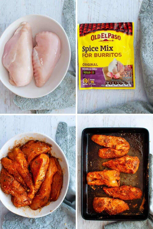 Shredded Chicken Burrito Bowl-prep
