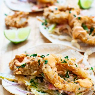 s single calamari taco