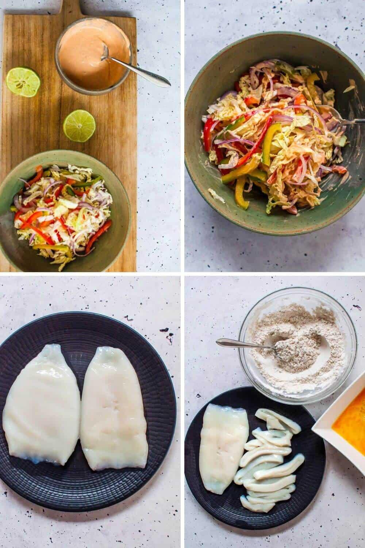 Calamari tacos preparation1