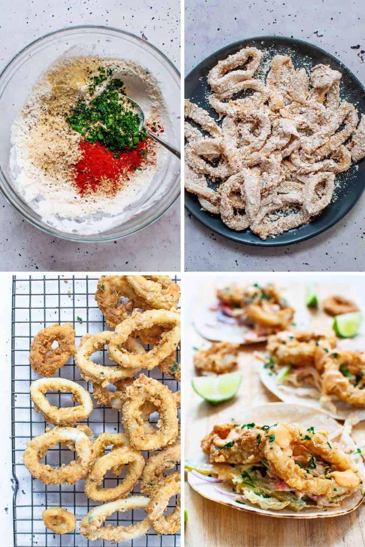Calamari tacos preparation2