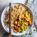 Healthy honey chilli chicken with cashews