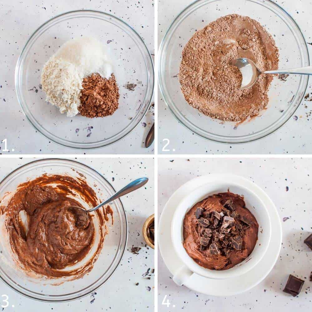 Chocolate Pudding In A Mug process shots
