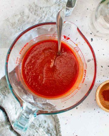 sugar free bbq sauce in a jug