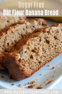 Oat flour banana bread - pinterest 2