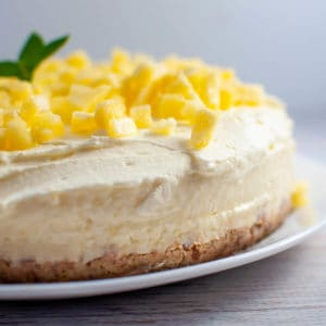 Pineapple tart on a white plate