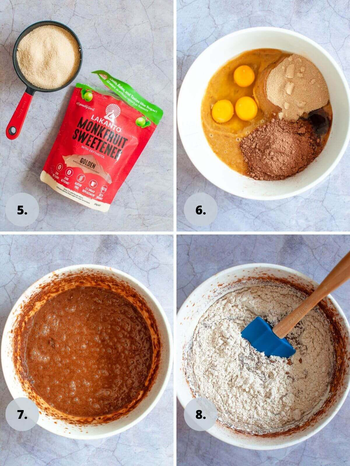chocolate date cake batter