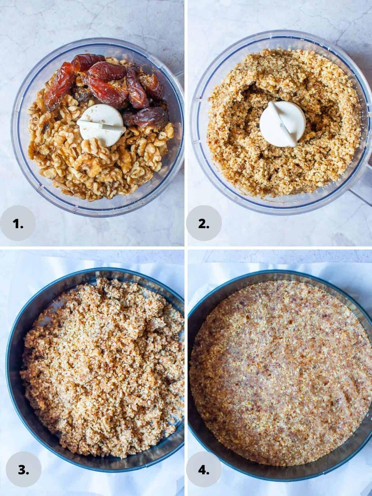 Pineapple tart base ingredient process shots