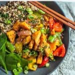 Salmon stirfry pinterest pin