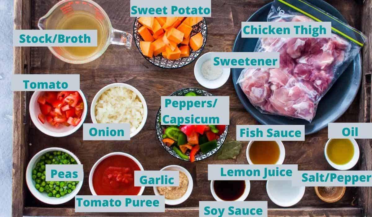 chicken afritada ingredients
