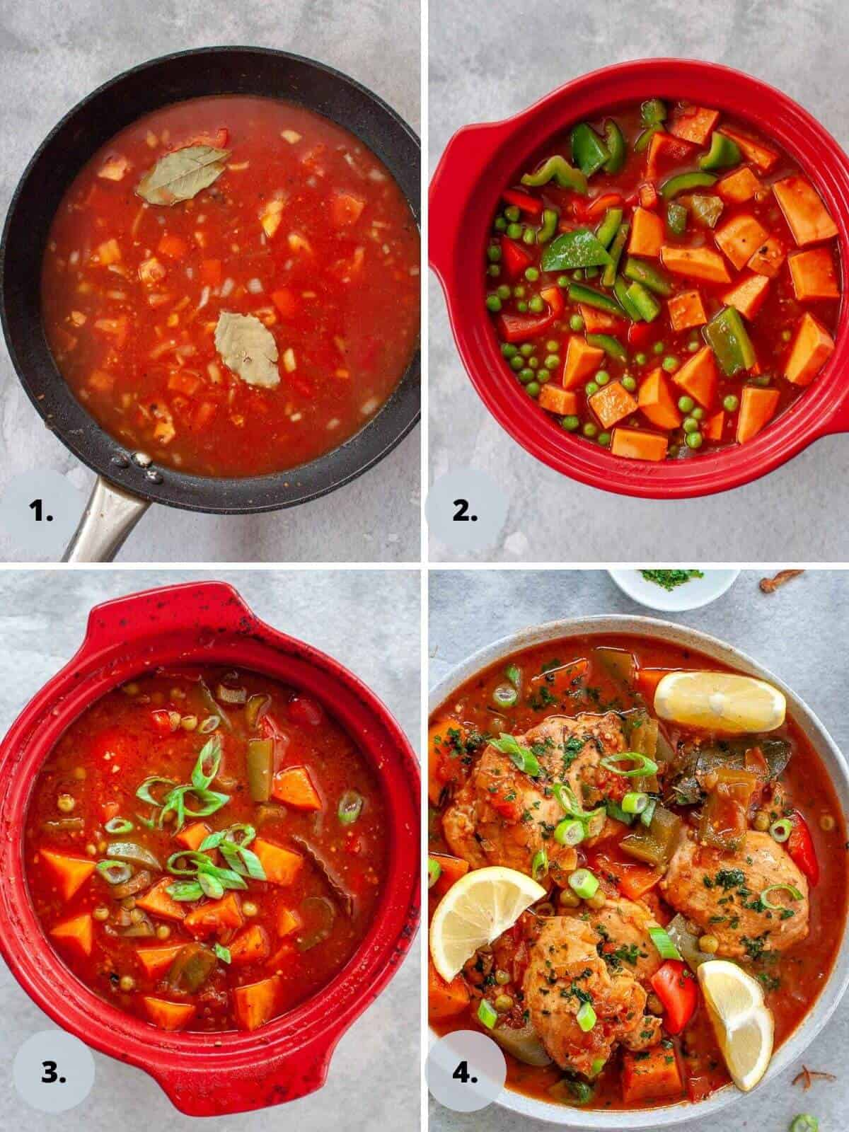 making chicken afritada tomato sauce