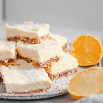 Coconut Lemon Slice on a plate