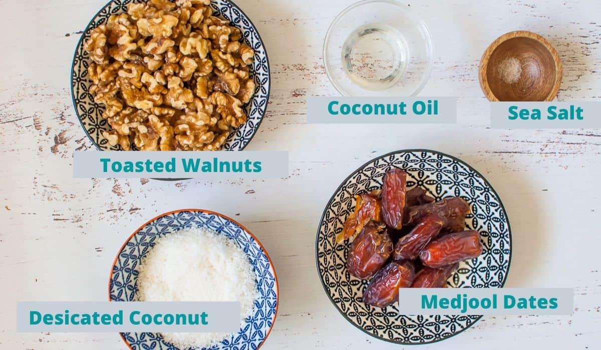 Lemon coconut slice base ingredients