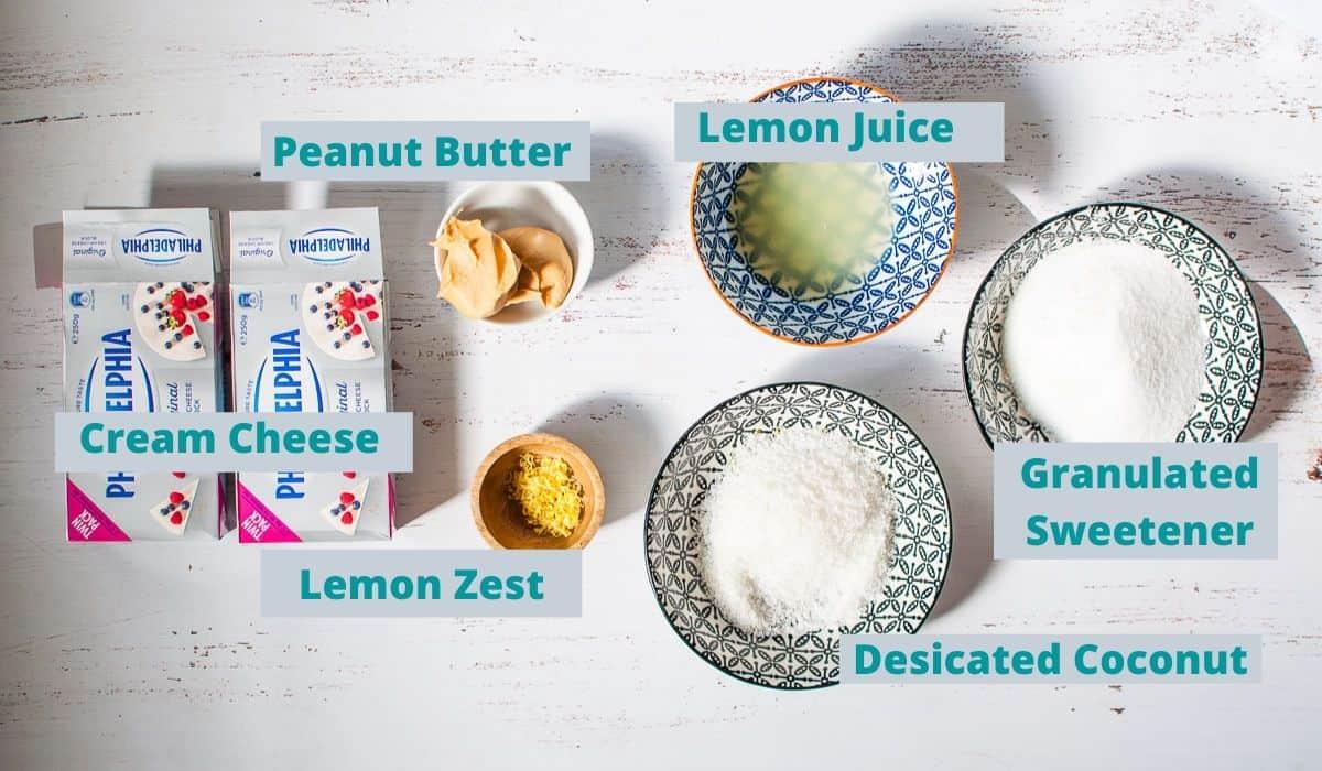 Lemon coconut slice filling ingredients
