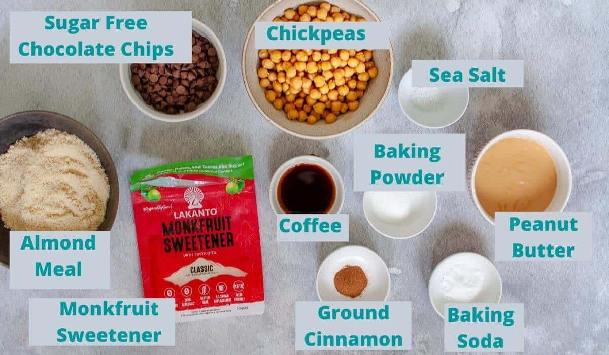 Chickpea Chocolate Chip Cookies ingredients