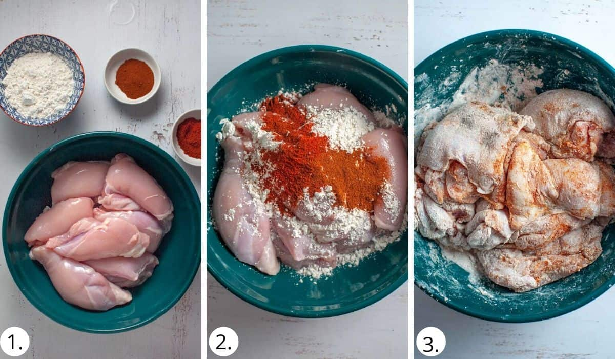seasoning chicken for apricot chicken curry