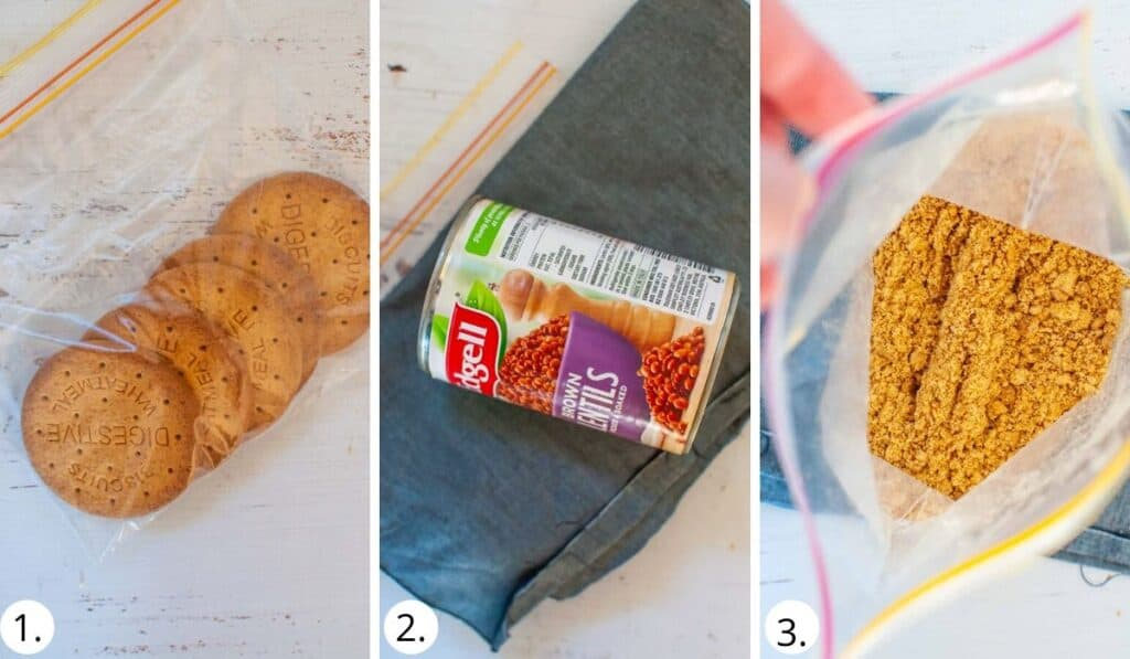 How to crush digestives