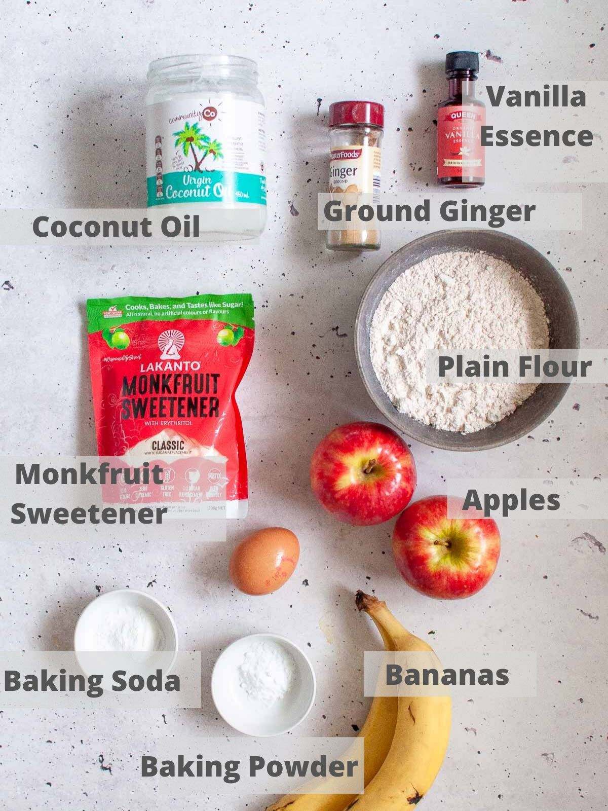 apple banana muffin ingredients