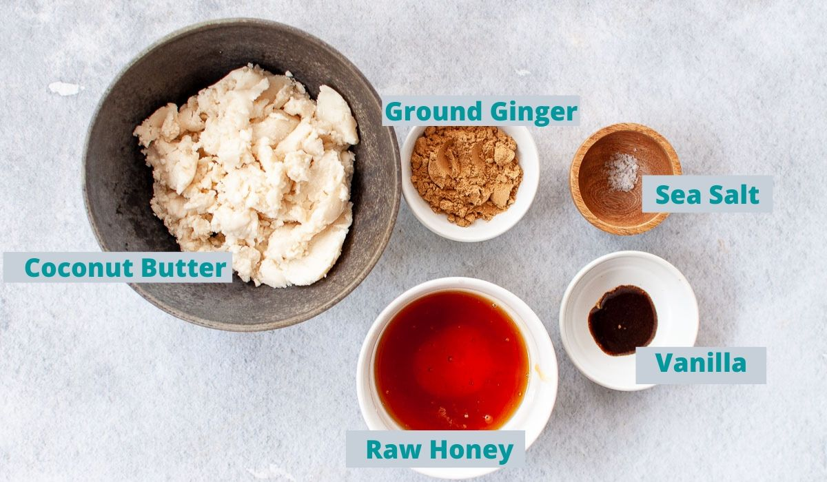 Ingredients for ginger slice top layer