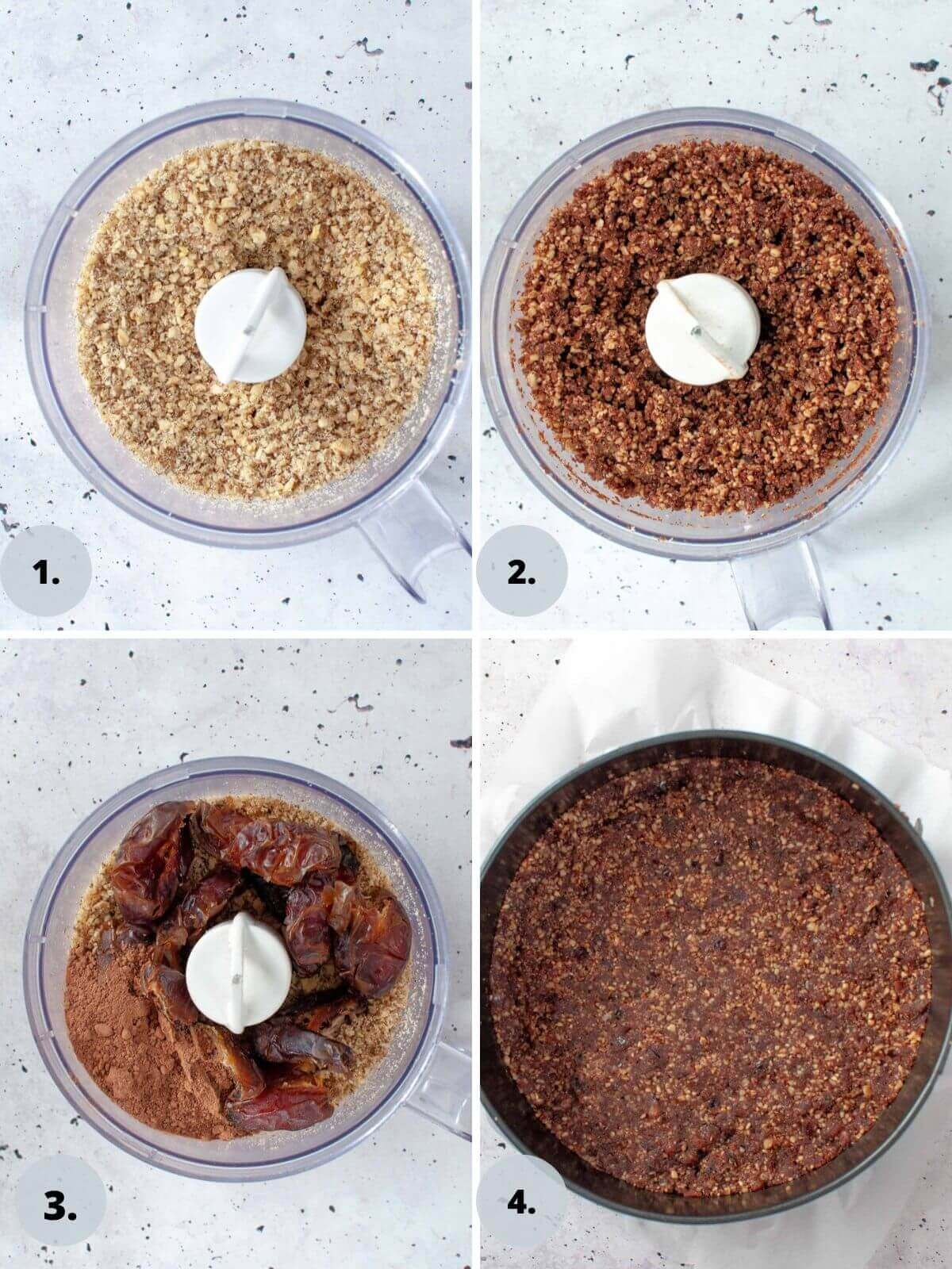 how to make the base for chocolate ricotta cheesecake