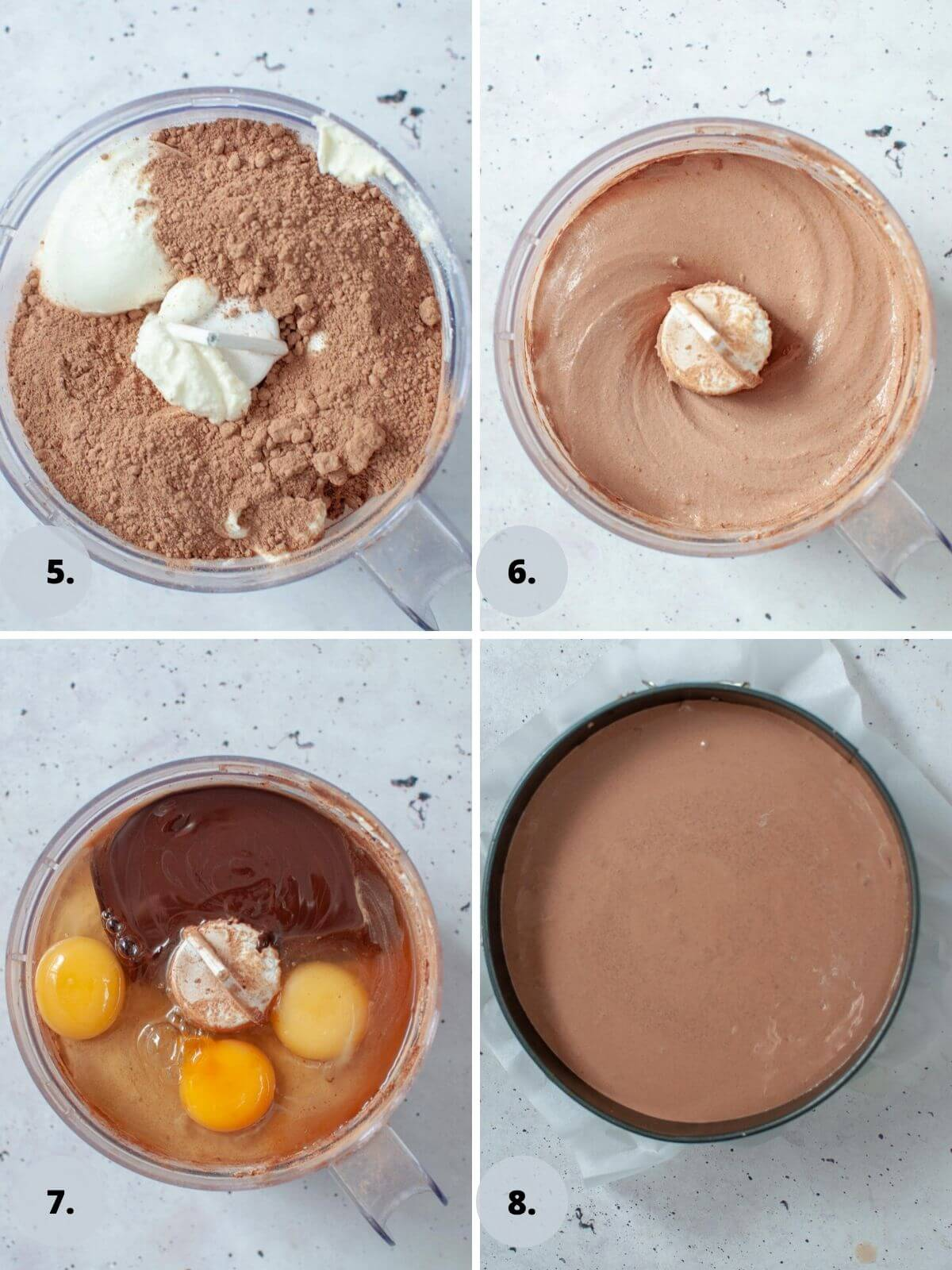 how to make the filling for chocolate ricotta cheesecake