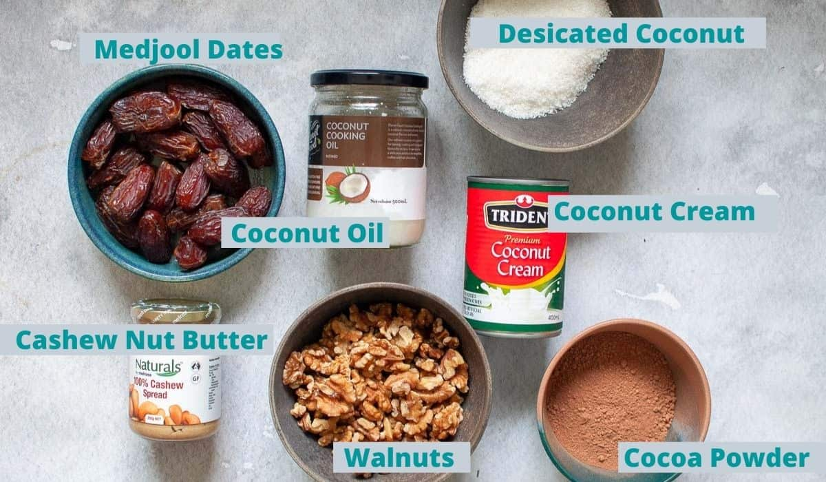 Chocolate slice ingredients