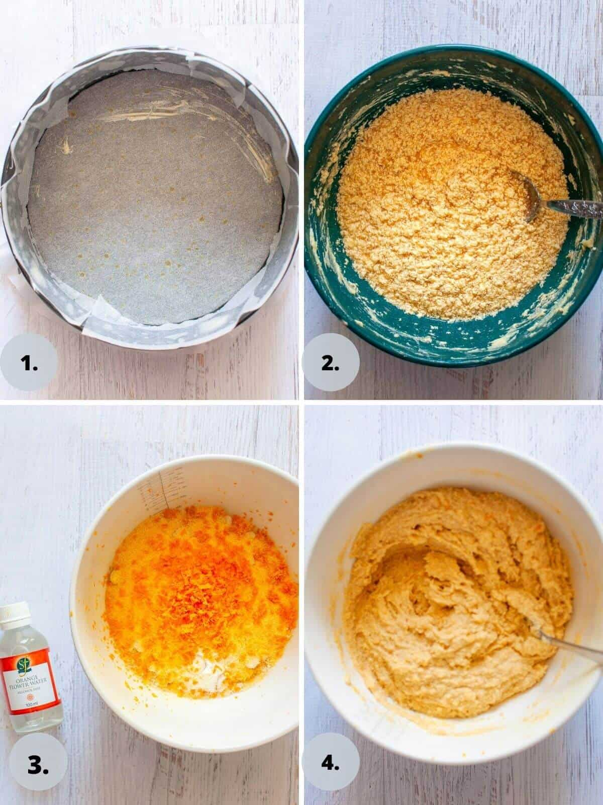 making orange polenta cake step by step
