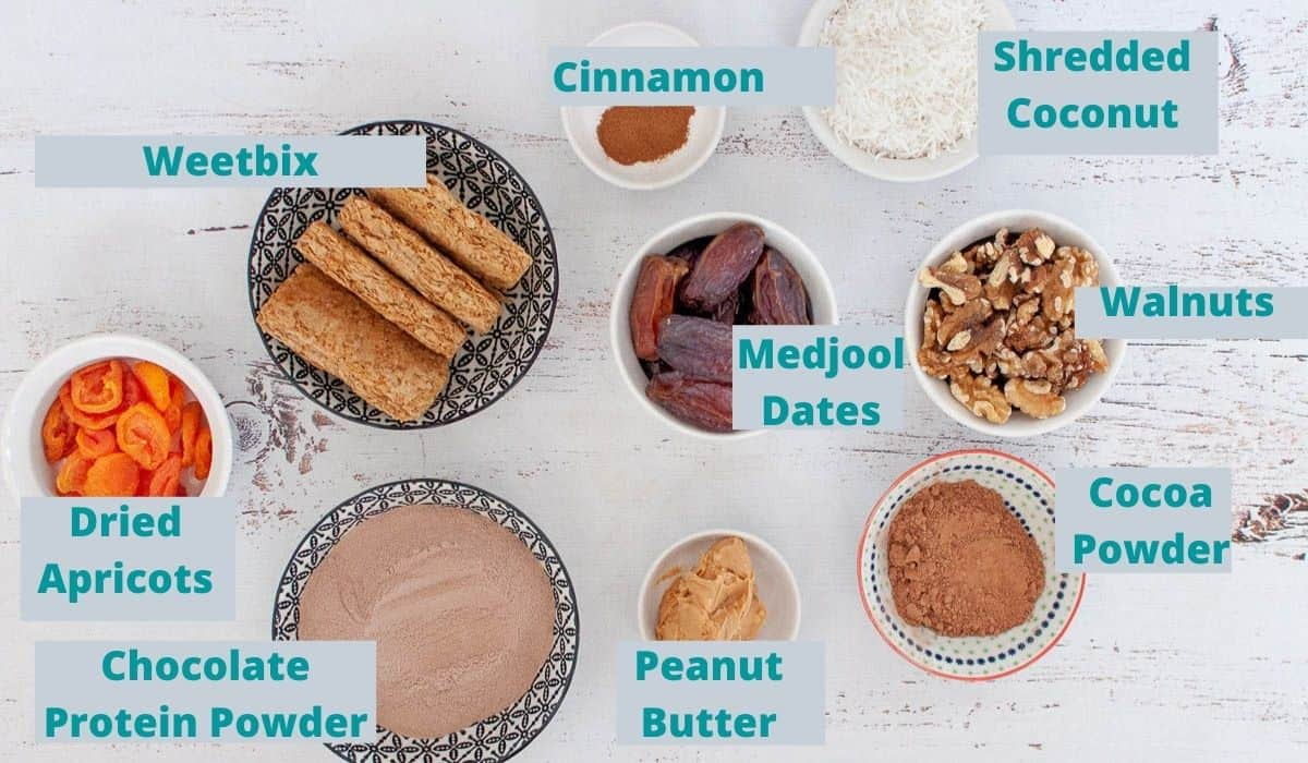 Ingredients for weetbix slice