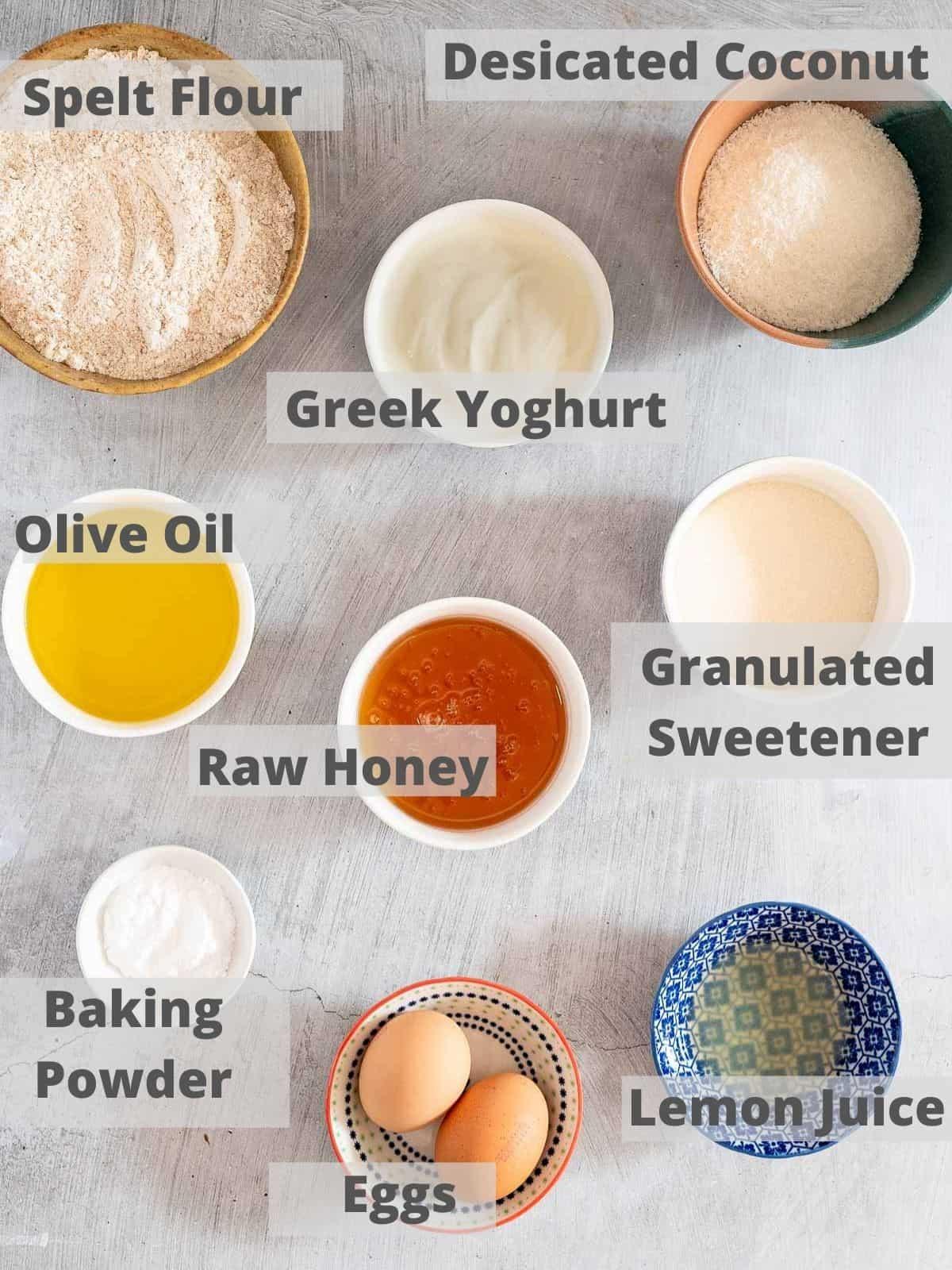 coconut yoghurt cake ingredients