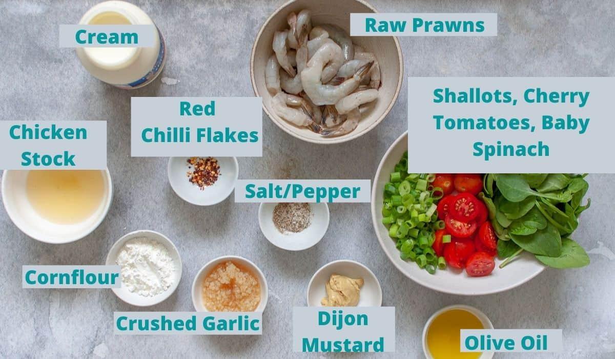ingredients for creamy garlic pasta