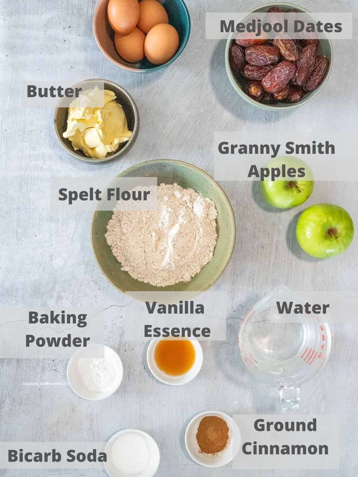 ingredients for healthy sticky date cake
