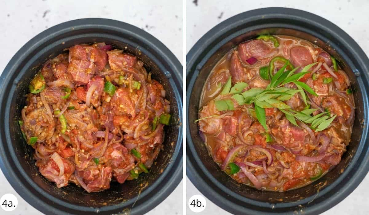 kerala beef curry in a slow cooker