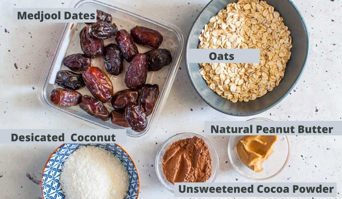 Date ball ingredients